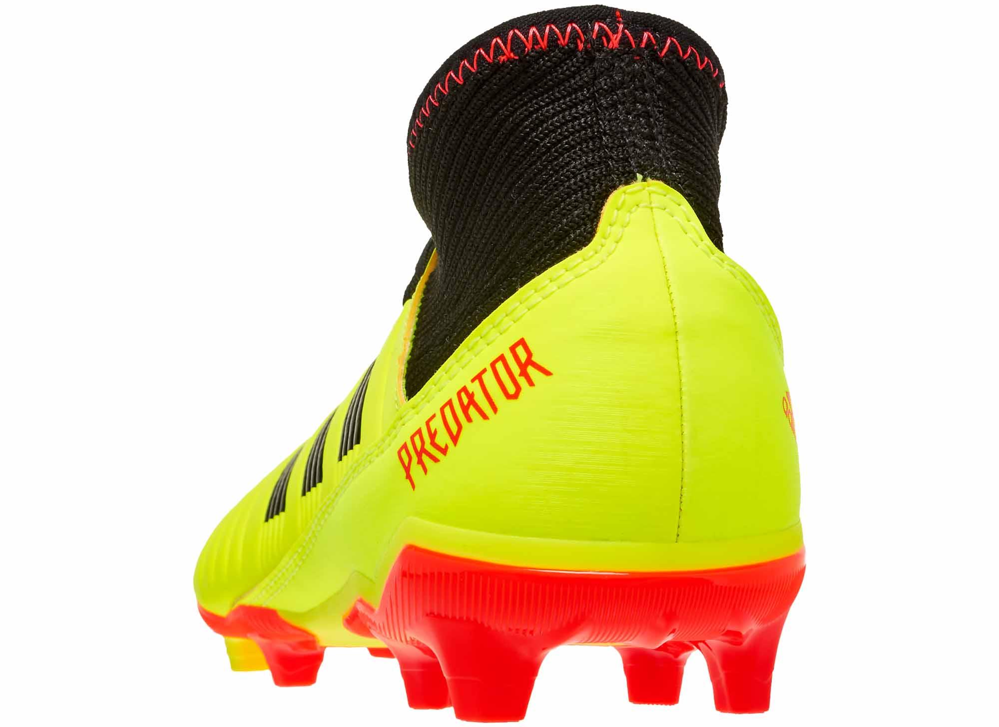 3d8344d37 adidas Predator 18.3 FG - Youth - Solar Yellow Black Solar Red ...