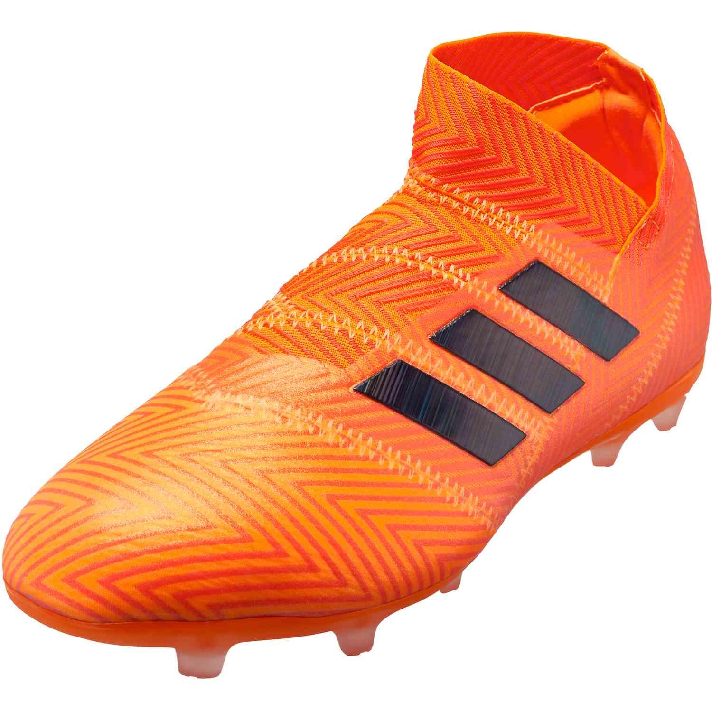a7a62d227498 adidas Nemeziz 18+ FG - Youth - Zest Black Solar Red - Soccer Master
