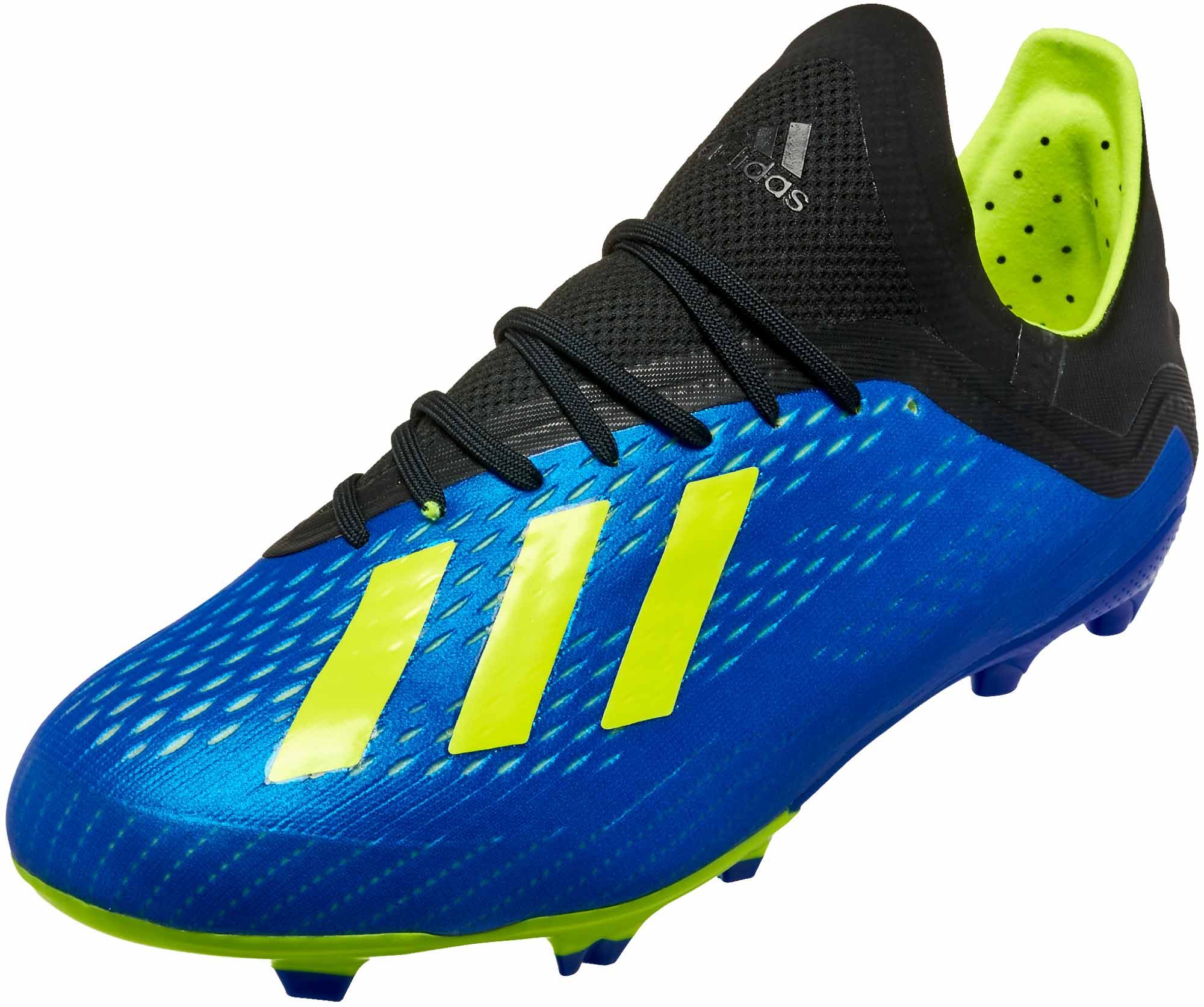 9b1364601ad adidas X 18.1 FG - Youth - Football Blue Solar Yellow Black - Soccer ...