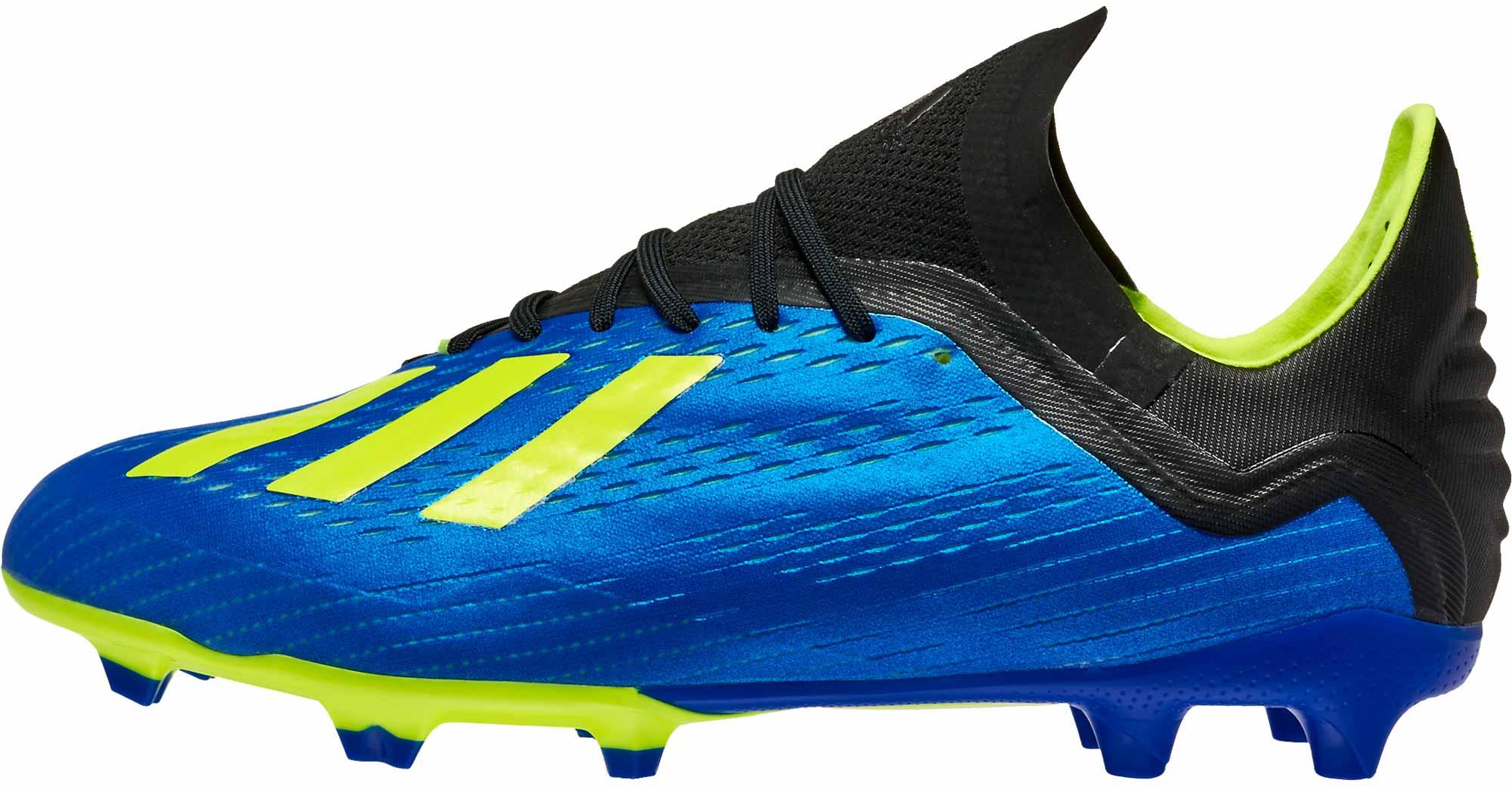 941bf70e9 adidas X 18.1 FG - Youth - Football Blue/Solar Yellow/Black - Soccer ...