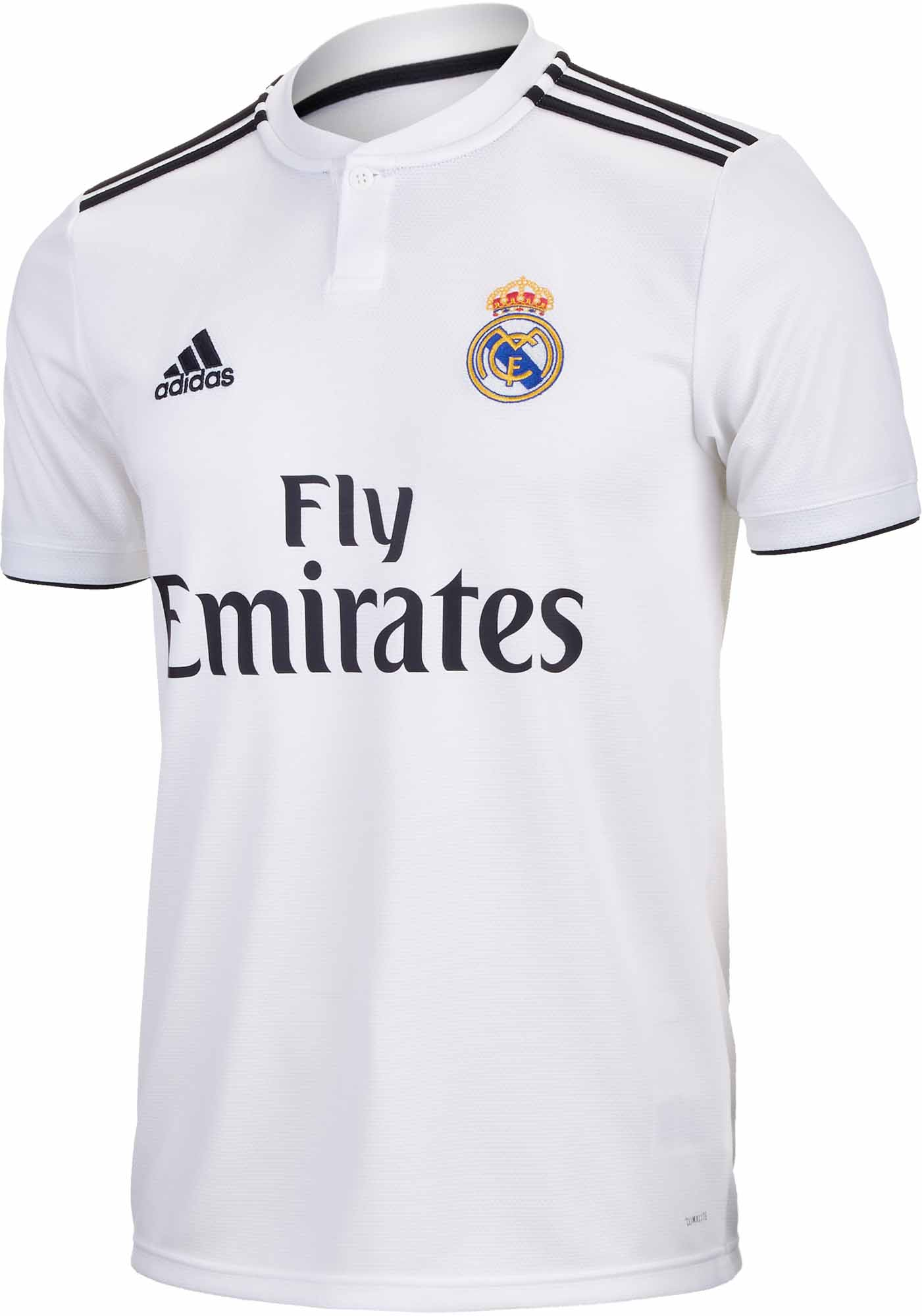 Black And White Madrid adidas real madrid home jersey - core white/black