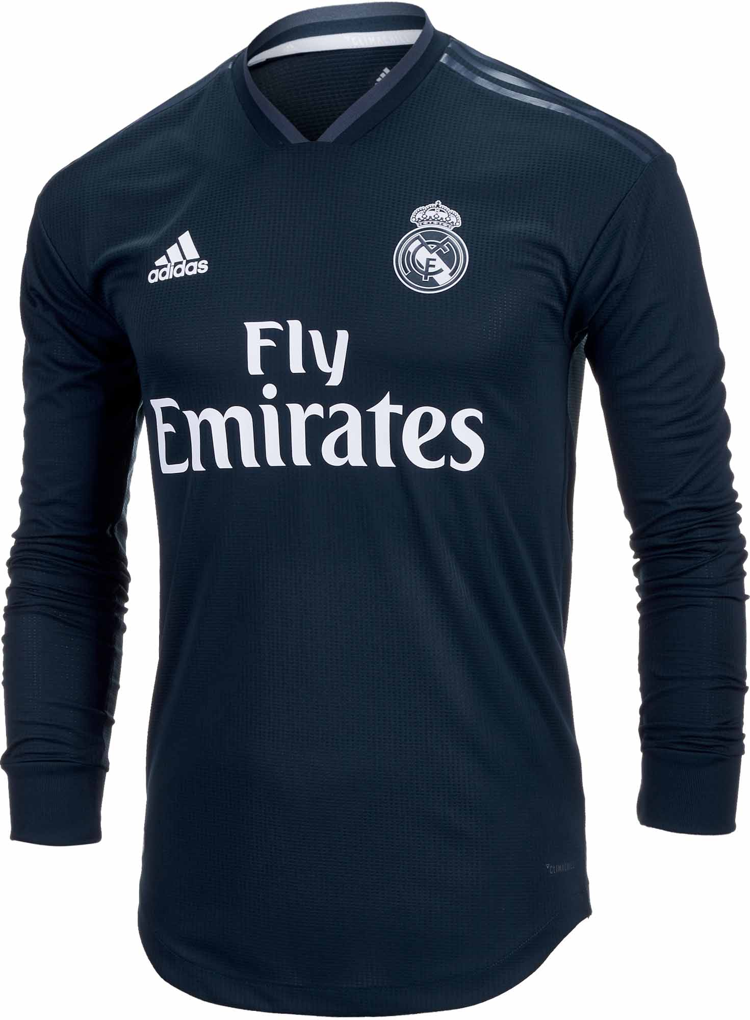 size 40 6bc20 a2157 adidas Real Madrid Away Authentic L/S Jersey 2018-19