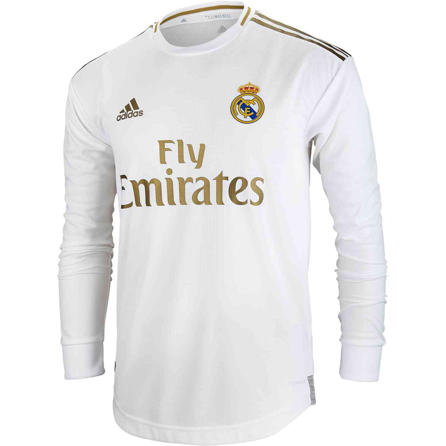purchase cheap 9ee88 02ce8 2019/20 adidas Real Madrid Home L/S Authentic Jersey