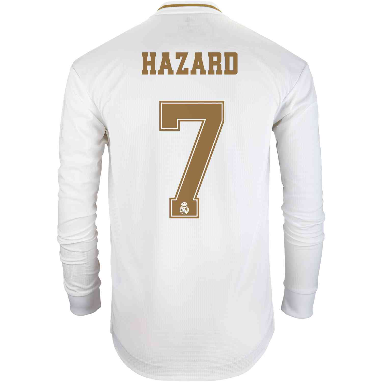 sale retailer 0dd92 446e0 2019/20 Eden Hazard Real Madrid Home L/S Authentic Jersey