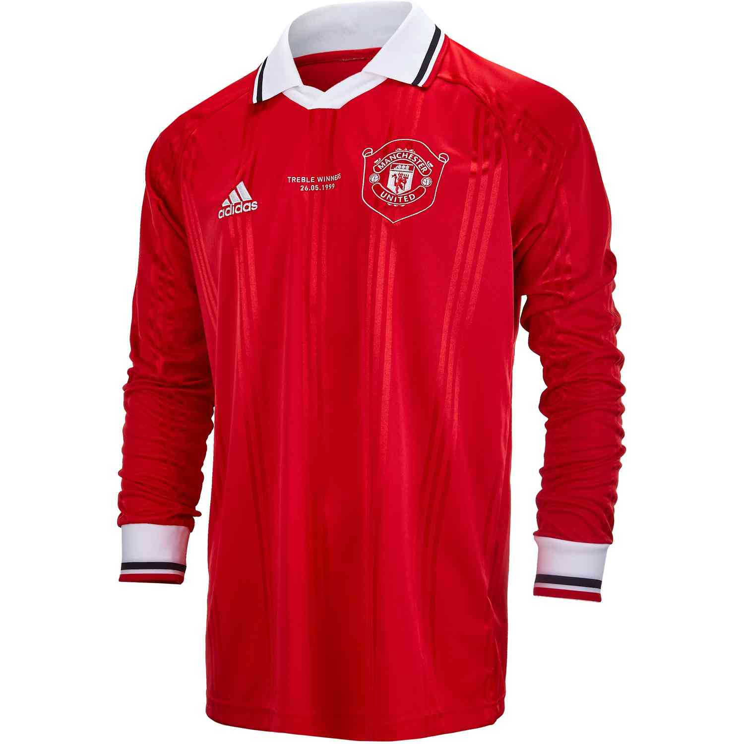 Adidas Manchester United L S Retro Jersey Real Red