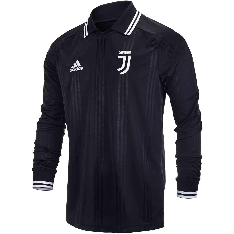 new product 384b2 3c428 adidas Juventus L/S Retro Jersey - Black