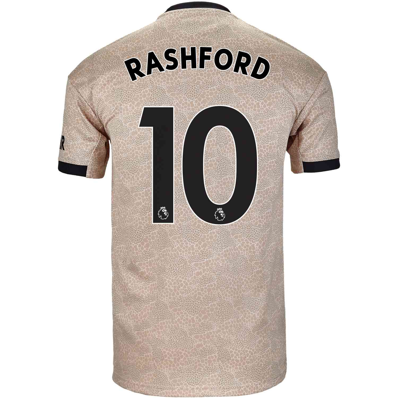 2019/20 Marcus Rashford Manchester United Away Jersey ...
