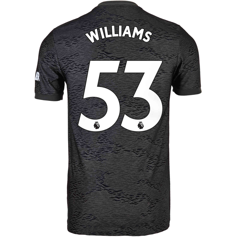 2020/21 Brandon Williams Manchester United Away Jersey - Soccer Master