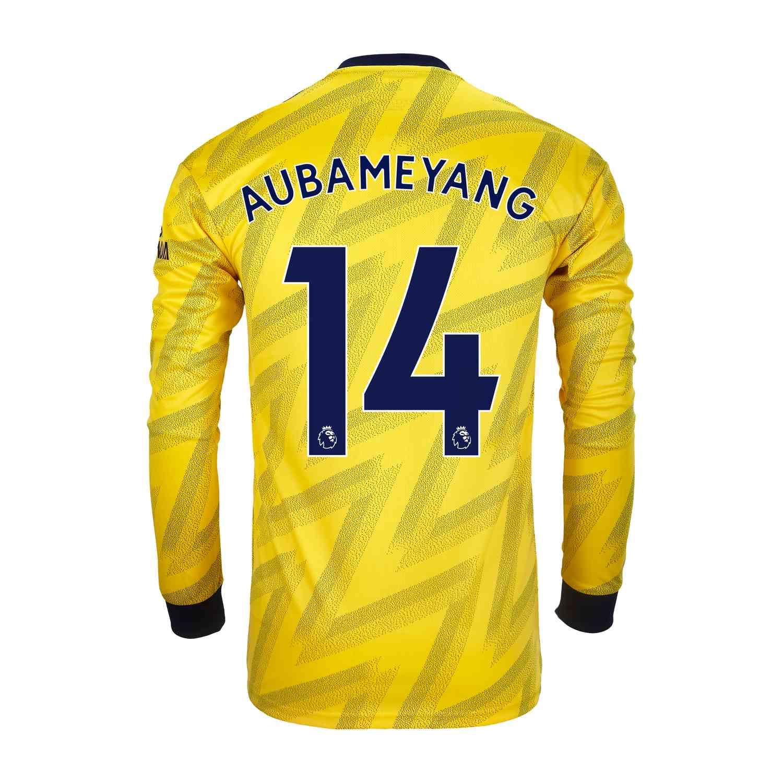 san francisco ee68a 73c11 2019/20 Pierre-Emerick Aubameyang Arsenal Away L/S Jersey