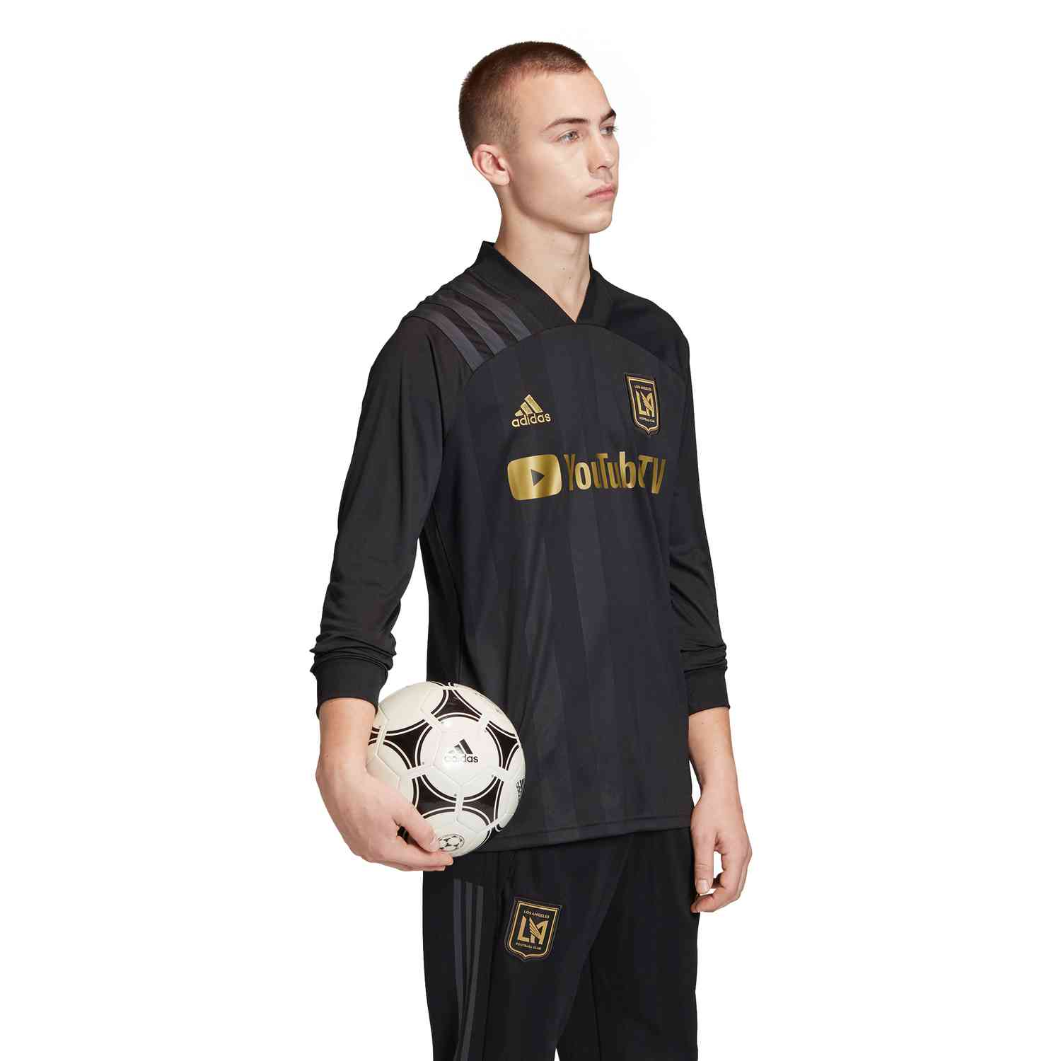 2020 adidas LAFC Long Sleeve Home Jersey - Soccer Master