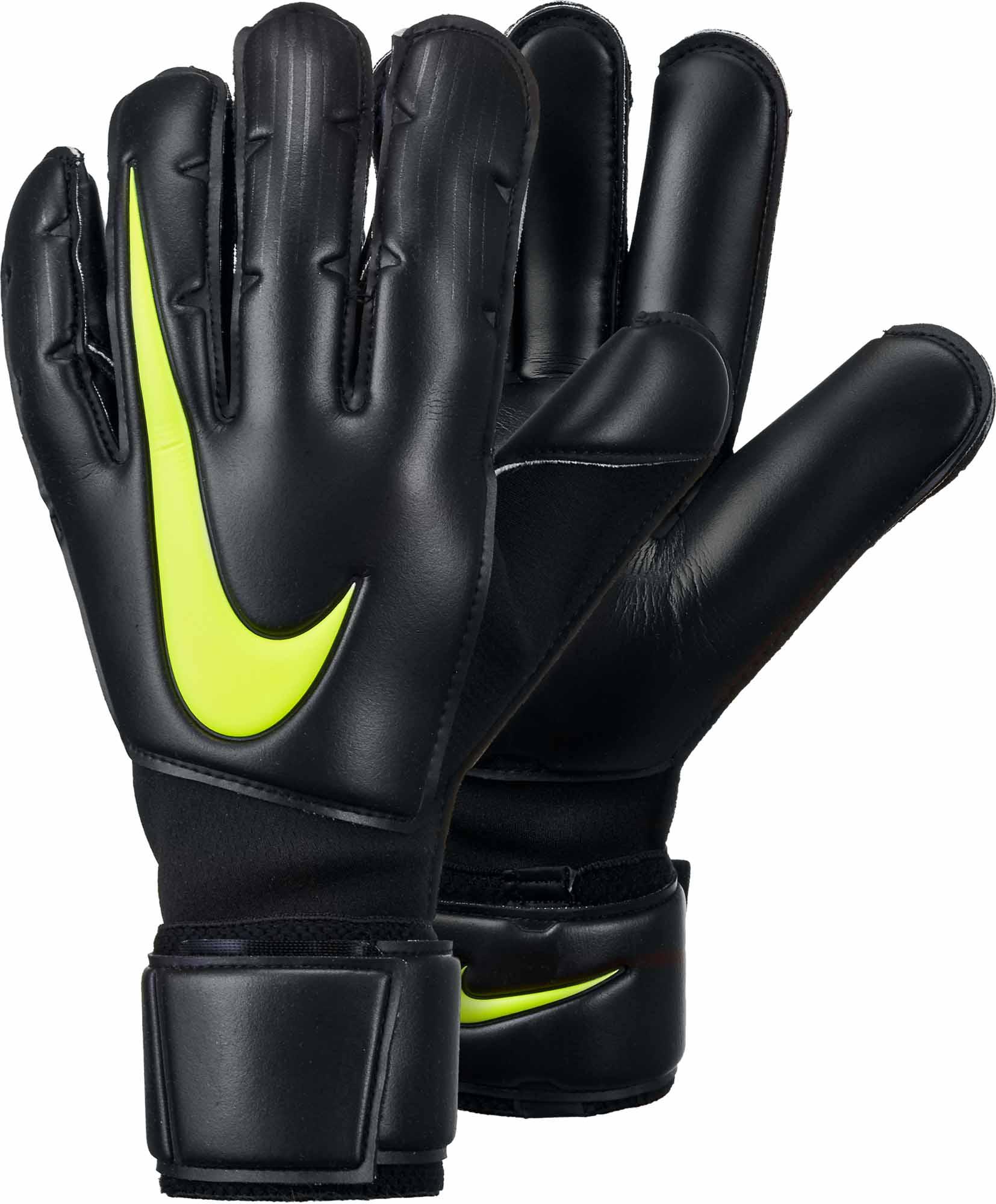 37b616686 Nike Vapor Grip3 Goalkeeper Gloves - Black   Volt - Soccer Master