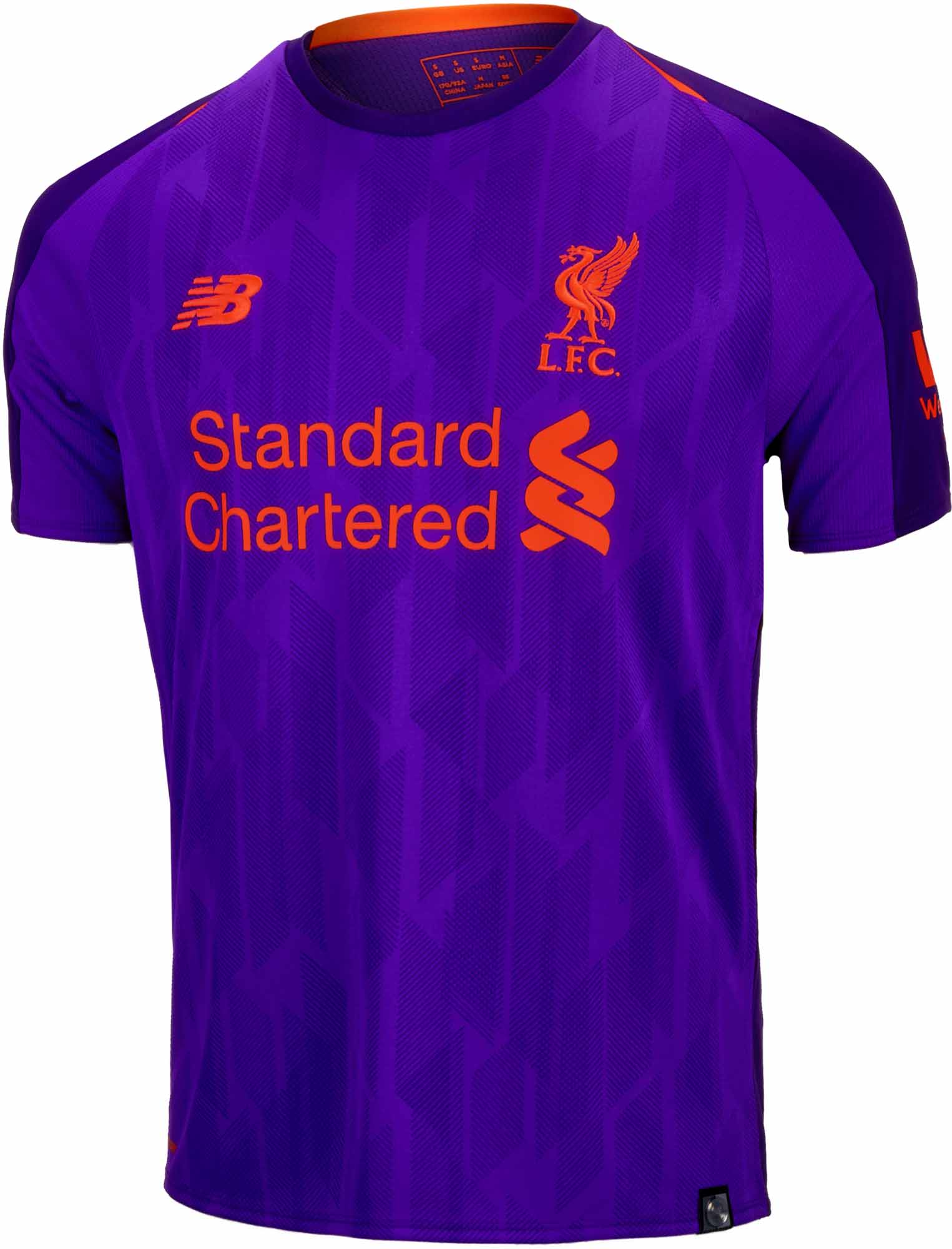 official photos beff2 17d75 2018/19 Kids New Balance Liverpool Away Jersey