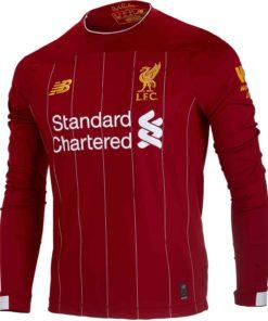 finest selection 8b513 49afb 2019/20 Virgil van Dijk Liverpool Home L/S Jersey - Soccer ...