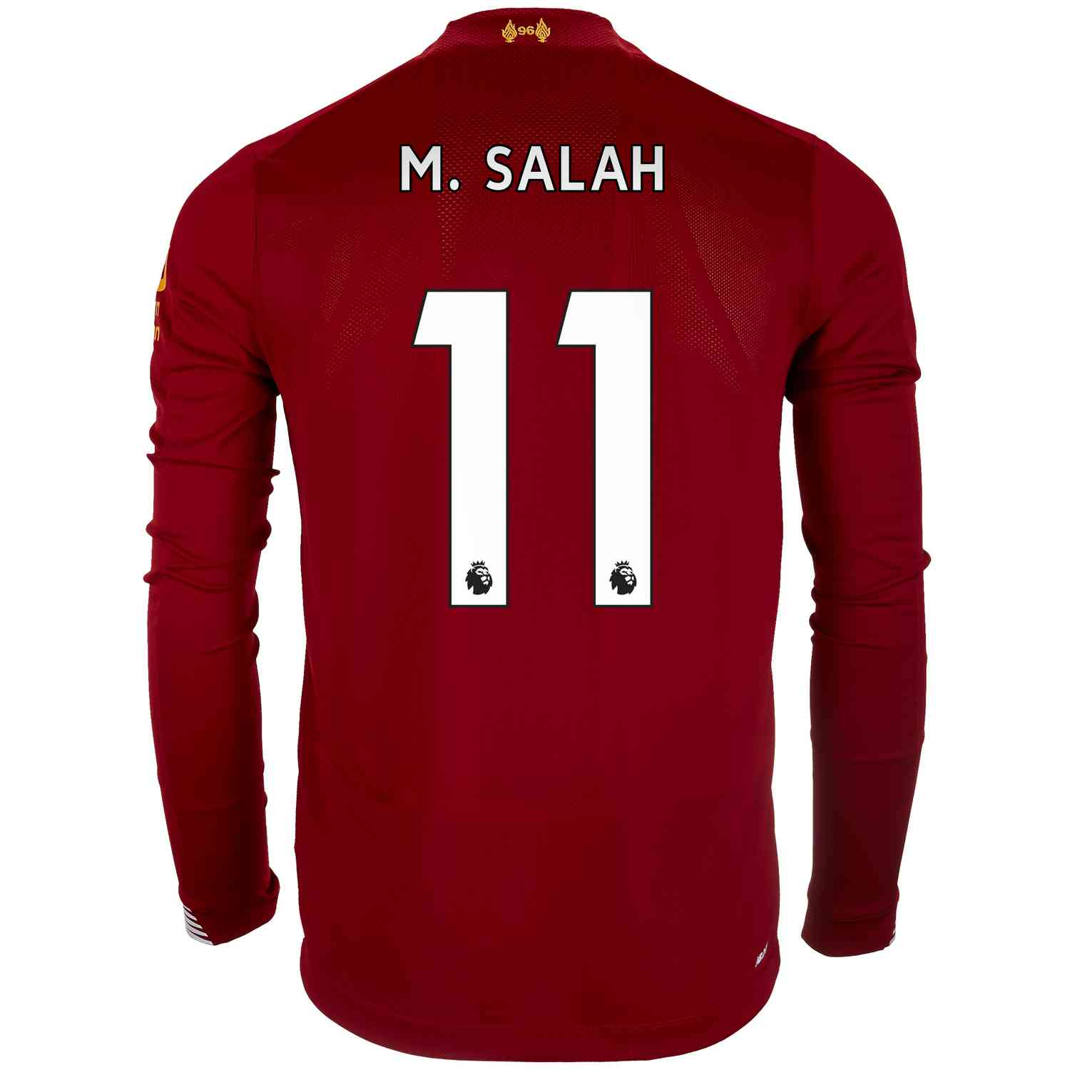official photos 6cfc5 3cb0a 2019/20 Mohamed Salah Liverpool Home L/S Jersey