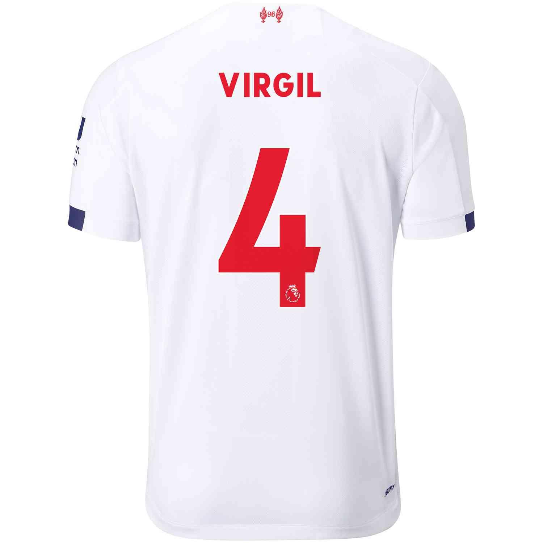 wholesale dealer 6aa80 1ce25 2019/20 Virgil van Dijk Liverpool Away Jersey
