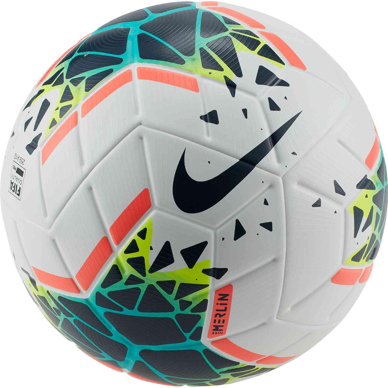 Entrada elegante Desagradable  Nike Merlin Premium Match Soccer Ball - White/Obsidian/Blue Fury - Soccer  Master