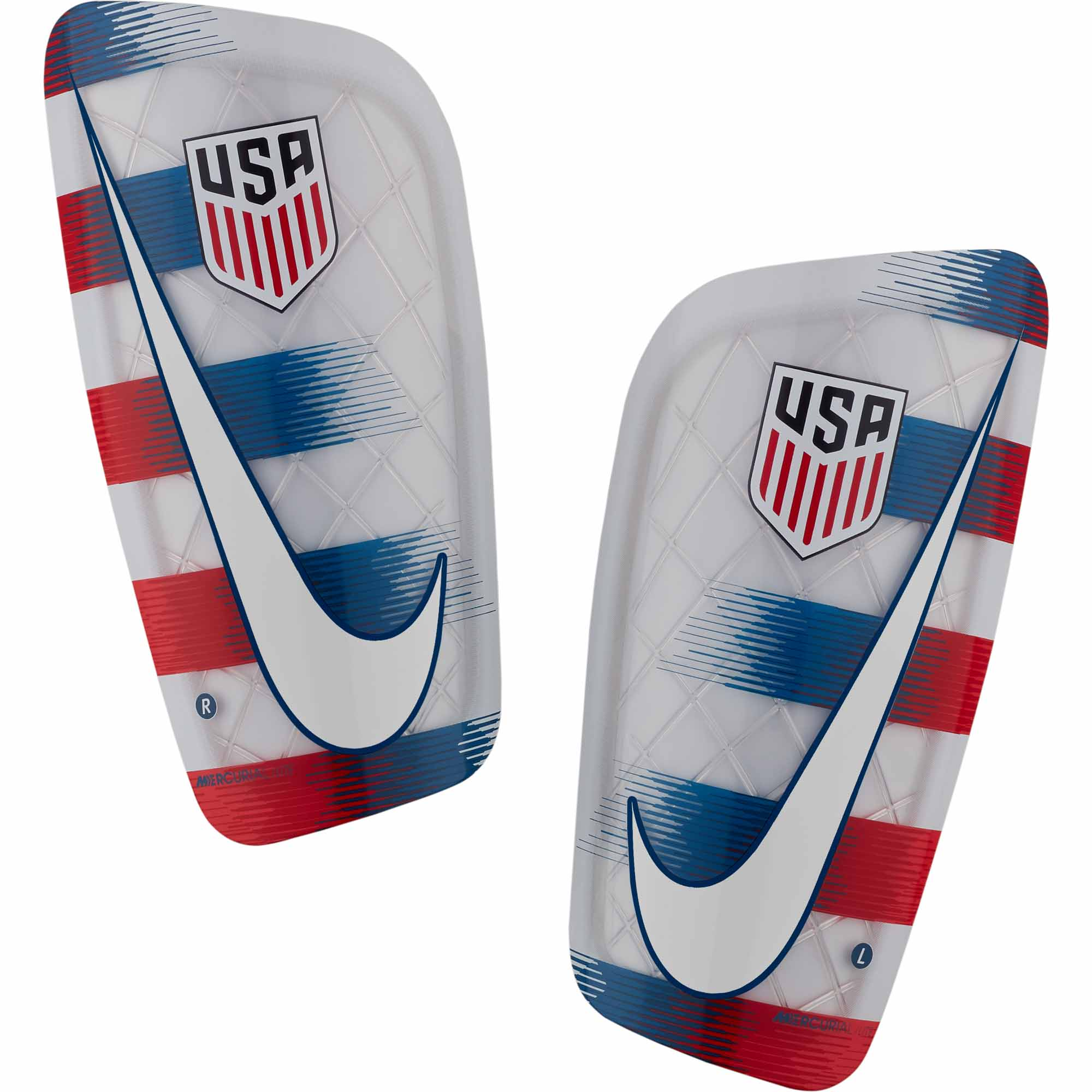 Nike Mercurial Lite Shin Guards - USA - White   University Red ... 46c942bb7