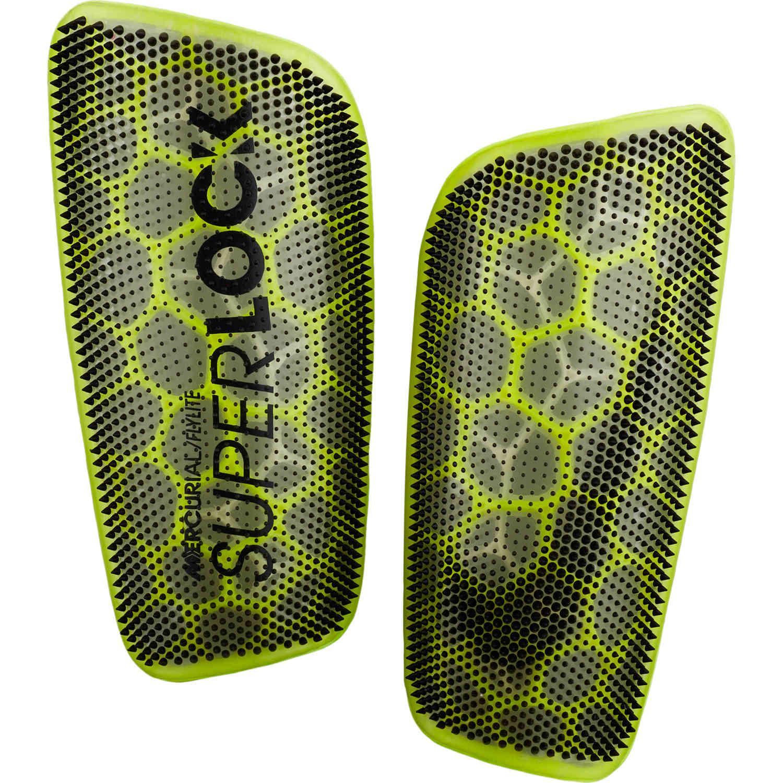 uvas Cambio Representación  Nike Mercurial Flylite Superlock Shin Guards - Volt/Black - Soccer Master